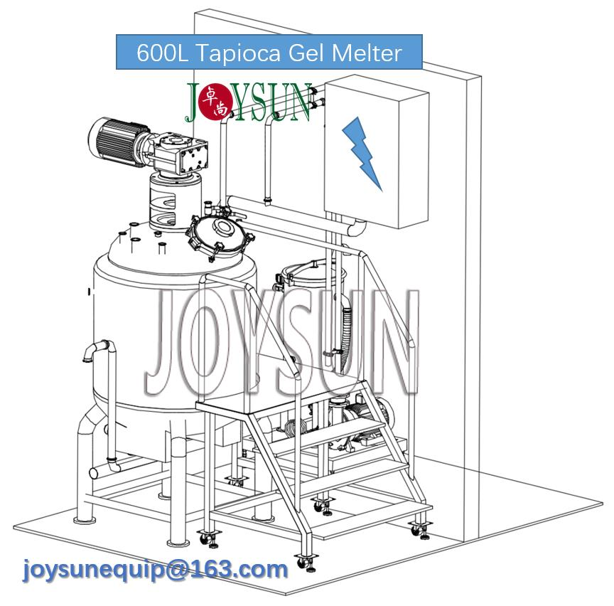 600L-tapioca-gel-melting-tank