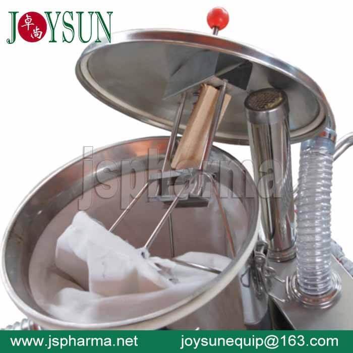 Dedusting-machine
