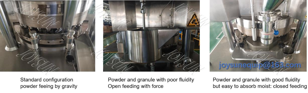 different-feeder-for-rotary-tablet-press
