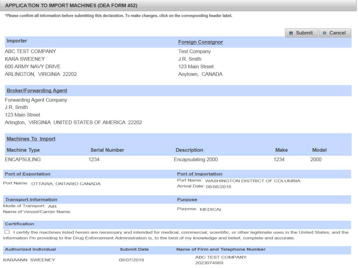 review-dea-application-form